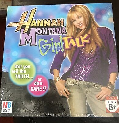 Brand New Hannah Montana Girl Talk Game 8+