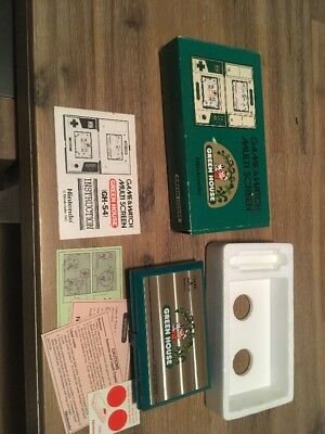 Nintendo Game And Watch Greenhouse Complete With Foam & Instructions