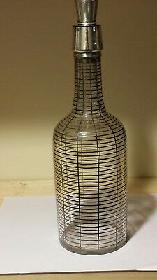 Sterling Silver Overlay & Glass Liquor Decanter