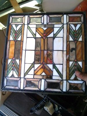 quoizel collectible very old vintage stained glass