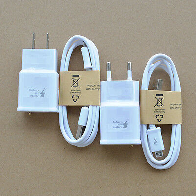 Original Adaptive Fast Wall Charger Cable Samsung Galaxy S4 S7 S6 Edge+ Note5/4
