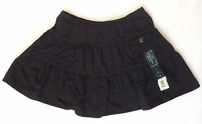 NWT Girls Faded Glory Scooter Skort Size 6 Black