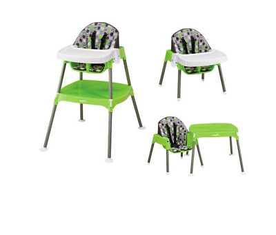 Evenflo Baby Convertible High Chair Infant and Toddler Feeding Seat, Dottie Lime