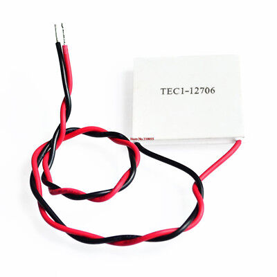 TEC 12706 DC 12V 1.6*1.6*0.2inch Thermoelectric Cooler Cooling Peltier chip DIY1