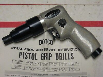 AVIATION DOTCO(COOPER AIR TOOLS) 55C2491 70 PISTOL GRIP DRILL 1650 RPM $7Shipp