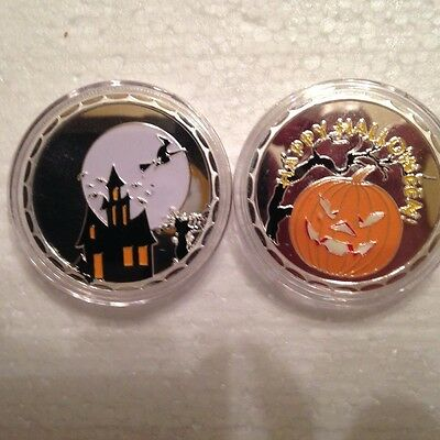 1 Haunted House Halloween Pumpkin Witch Jack O Lantern 1 oz/ounce coin