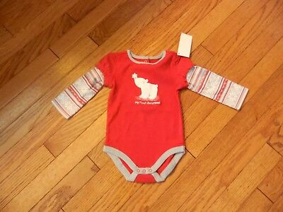 Girls Gymboree One Piece My First Christmas Size 6-12 Months NWT