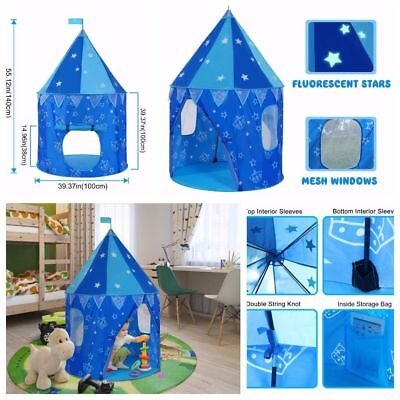 Pop up Kids Play Tent For Indoor Outdoor Play House Hut Durable Castle Playset