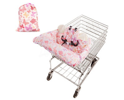 Foldable Shopping Cart Cushion Pad Protection Cover Seat Safety Belt Chair Mat