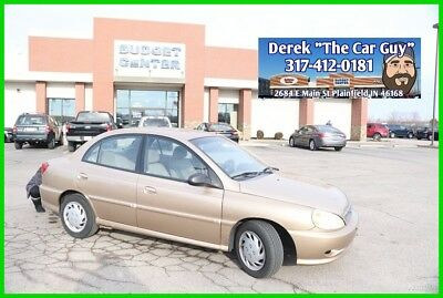 2002 Kia Rio Base Sedan 4-Door 2002 Kia Rio Used 1.5L I4 16V Automatic FWD Sedan Gold No Reserve