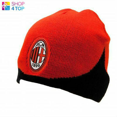 fbe693e9 Ac Milan Knitted Cap Hat Red Black Beanie Winter Football Soccer Official  New