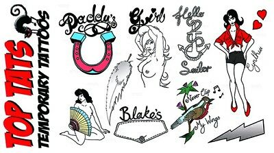 LARGE QUALITY Amy Winehouse Deluxe Tattoos, Fancy Dress Costume Outfit Halloween