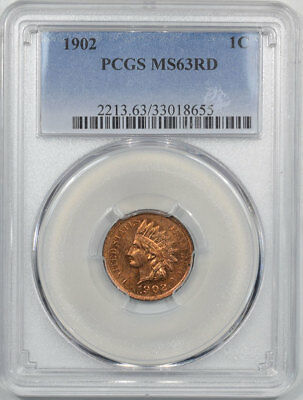 1902 Indian Cent Pcgs Ms-63 Rd.  Another Coin From The Reeded Edge!