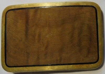 Trinity Solid Brass and Wood Belt Buckle