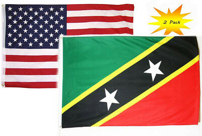 SAINT KITTS AND Nevis Flag 3x5 ft Nation National Country