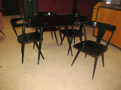 Paul McCobb Vintage Solid Wood Dining Set 4 Chairs 1 Table Planner Group Modern