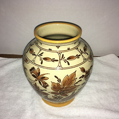 Large Gouda Vase, Made in Holland, Stamped on the bottom with the makers Sign