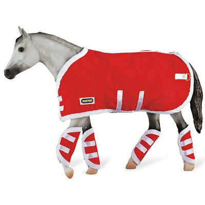 Breyer 1:9 Traditional Series Model Horse Accessory Blanket & Shipping Boots Red