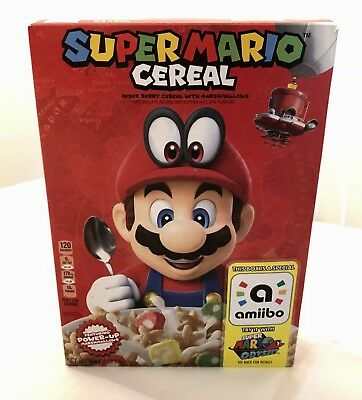 Super Mario Cereal With Limited Edition Amiibo For Odyssey Nintendo Switch