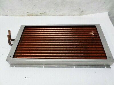 "Lytron Liquid to Air Heat Exchanger Radiator Coil Copper 21-1/2"" x 11"" x 2"" Used"