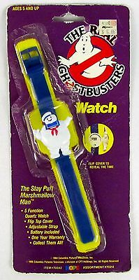 THE REAL GHOSTBUSTERS Vintage 1989 3D STAY PUFT Figure Digital Watch SEALED