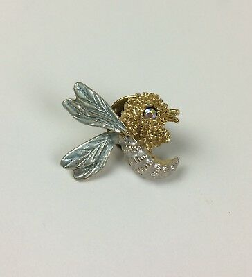 Vintage Hornet Bee Wasp Lapel Pin Bug Insect