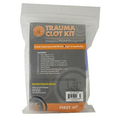 Ultimate Survival Tech 20-02723 Trauma Clot First Aid Kit Gloves