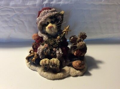 Boyds Bears Santa Claws and Nibbles Figurine Purrstone Collection 1999