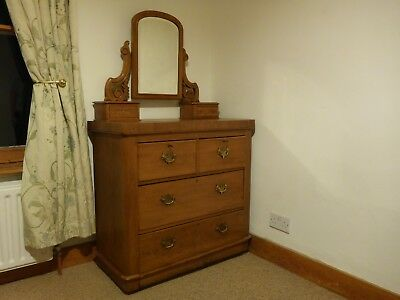Beautiful Antique Mahogany Dressing Table with Swing FramedMirror