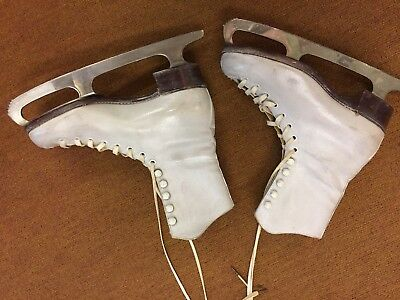 Vintage Ladies Viking Figure/Ice Skating Boots, Very Old Approx 50 Years + Size4