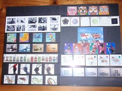Gb Complete Year All 12 Sets Commemorative Stamps Issued In 2001 Unmounted Mint