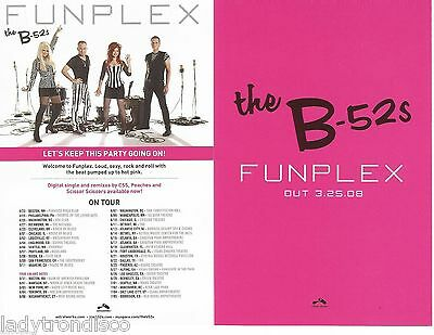 THE B-52s - FUNPLEX - US OFFICIAL PROMO DOUBLE SIDED POSTCARD (2 SENT PER ORDER)