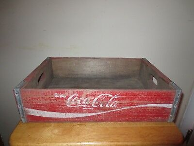 Vintage Coca Cola Coke Wood Crate Soda Pop Bottle Case Carrier Antique Decor