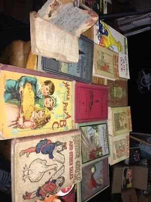 Lot Of Antique Vintage Books From Kids To Grown-Up One Book Is From 1808