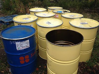 Metal 45 Gallon Drums Storage Burning Bin Steel But Diesel Fire