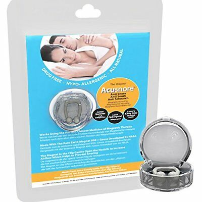 Anti Snore Magnetic Nose Clip Stop Snoring Device & Case Apnea Sleep Aid Guard