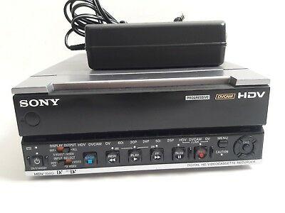 Sony HVR-M15AU 1080i HDV DVCAM DV MiniDV Player Recorder Deck, 12x10 Drum Hours