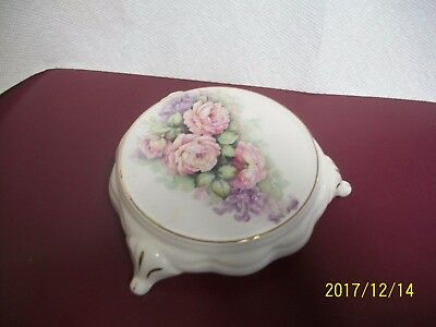 Made In England Fine Bone China- Camilla Floral  Footed Trivet