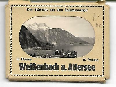 Complete Set 10 x Real Photo snapshots of  WEISSENBACH AM ATTERSEE -  VINTAGE