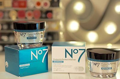 No7 Protect And Perfect Intense Advanced Day Cream + Night Cream Both 50Ml