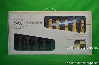 SAC A161B Antiqued Battle of Culloden Chess set with board in presentation box