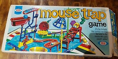Vintage IDEAL Mouse Trap Board Game