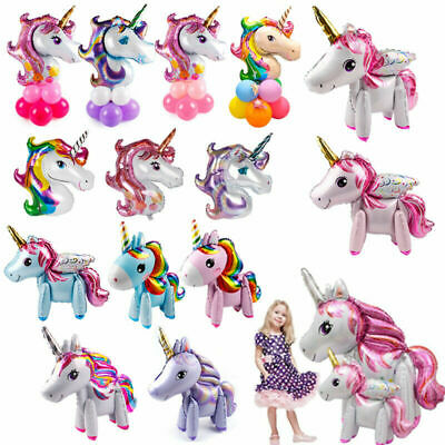 Giant Unicorn Magical Horse Foil Helium Balloons Kids Birthday Party Room Decor