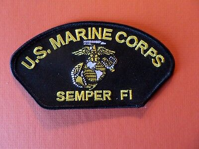 U.S. MARINE CORPS SEMPER FI Embroidered 2-7/8 x 5-1/4 Iron On  Patch