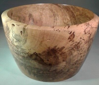 Turned Grapefruit Wood Bowl, Tree Downed By Hurricane Charley 2004 Handmade