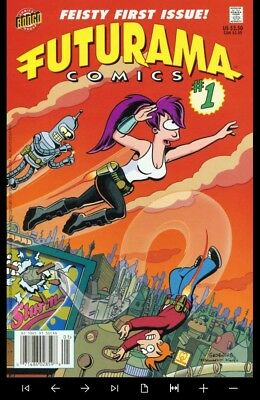 Futurama comics collection on new DVD Rom full color case and disc