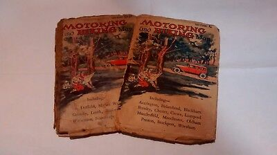 Vintage Motoring and Hiking Maps and Christies Catalogue of Motorcycles and Cars