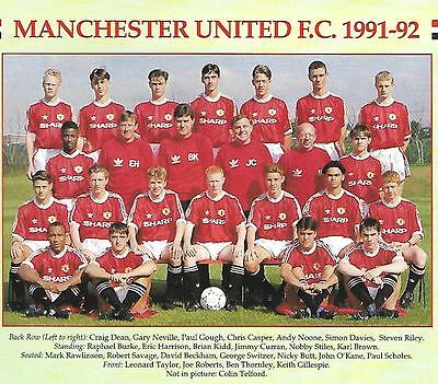 Manchester United 1991-92 Youth Team Photo Print. Class Of 92.