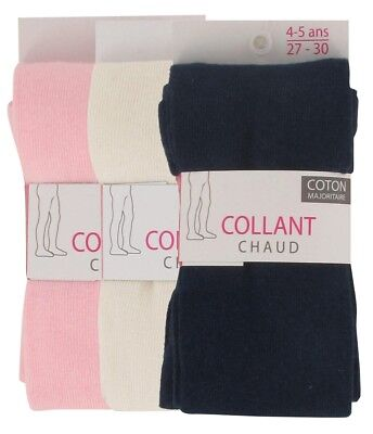 Collants Chauds Bébé Lot de 3 Unis
