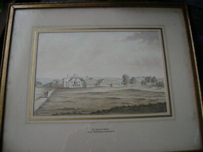 19th C Watercolour after Samuel Grimm. Mr Rogers house nr Seahouses Eastbourne
